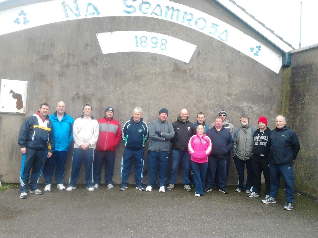 Group who did the course - From left - Patrick Andrews (Tutor), Seamus O'Flynn, Kevin O'Grady, Tim Hayes, Peter Crowley, Gerry Dineen (Tutor), Lorcan Aherne, Jed O'Flaherty, Gemma Kavanagh (in front), Vincent Coyne (in front), Stephen Keane, Joe McCarthy, Jason Deasy and Brendan O'Connell.