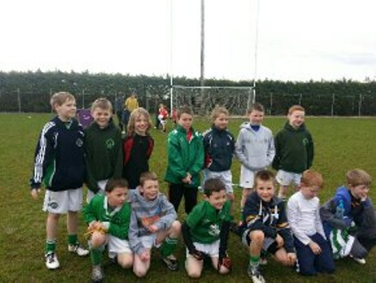The u10 panel who won 3/3 in Whitechurch in the first football blitz of the year.