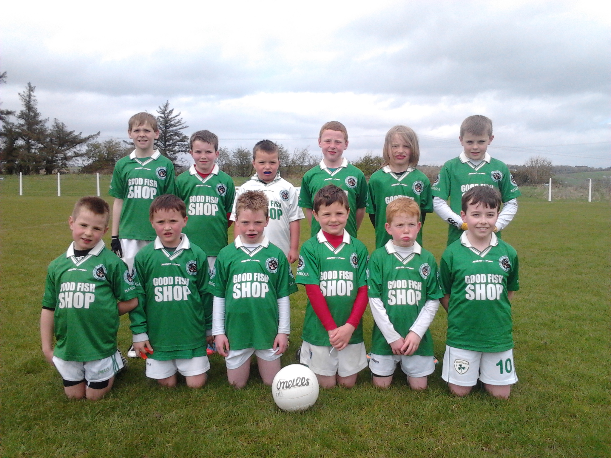Shamrocks squad V Courcey Rovers, 28/4/13. Back row, left to right - Fionn Meighan, Harry Andrews, Josh Bartlett, Fionn Herlihy, Derry Howard, Mark Sisk. Front, l to r: Eoin O'Flynn, Declan Carroll, Colin Murphy, Michael Foy, Darragh O'Brien, Jack O'Leary.
