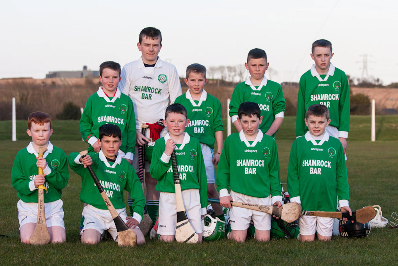 Shamrocks U12 V Dripsey in Shanbally, 19/4/13. Back Row, l to r: Harry Andrews, Evan Seymour, Sean Andrews, Dylan O'Flaherty, Jody Sisk. Front, l to r: Shane Donegana, Robert Van Pelt, Cian O'Flaherty, Luke O'Driscoll, Mark Sisk.