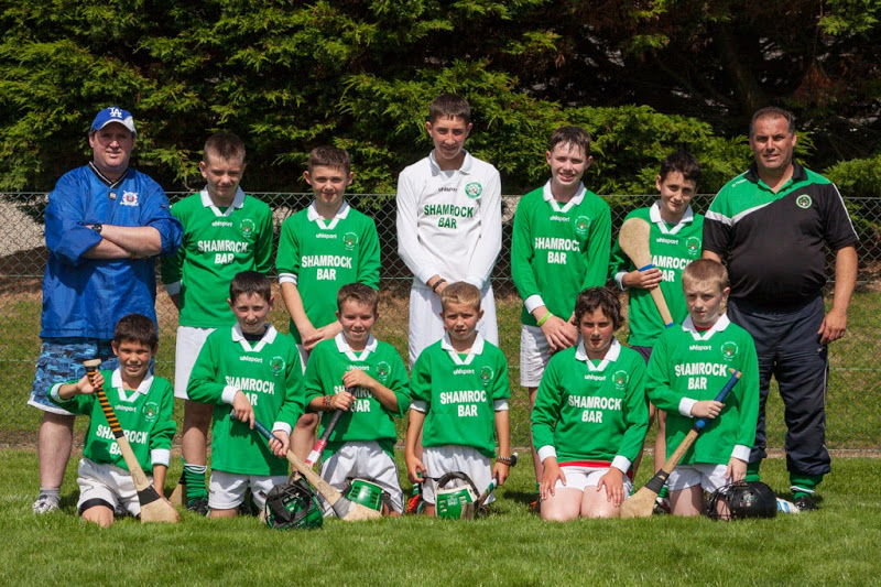 Shamrocks panel in u13 Tournament in Crosshaven, 9/8/13. Back row, l to r: Pa Andrews (mentor), Evan Seymour, Mark Andrews, Shane Flavin, Shane Downey, David Johnson, John Jordan (mentor)  Front, l to r: Robert Van Pelt, Luke O Driscoll, Harry Andrews, Sean Andrews, Sam Geary, Cillian O Mahony.