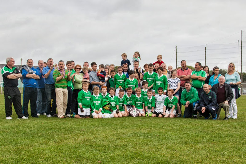 Shamrocks team and supporters in Ballinora, 21/9/13