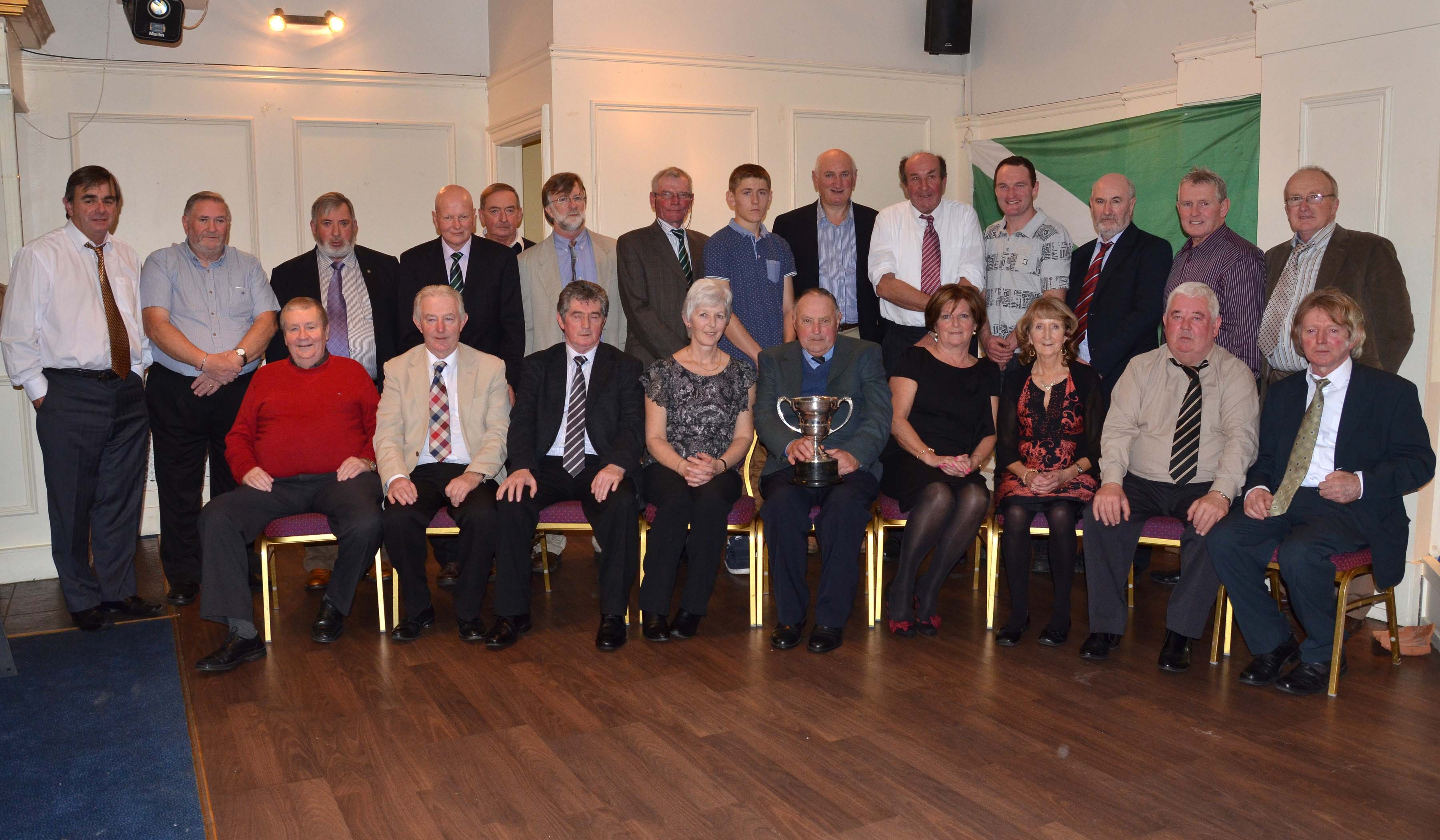 Some of the assembled memeber at the Shamrocks Jubilee Dinner Dance, November 8th, Fernhill GC.