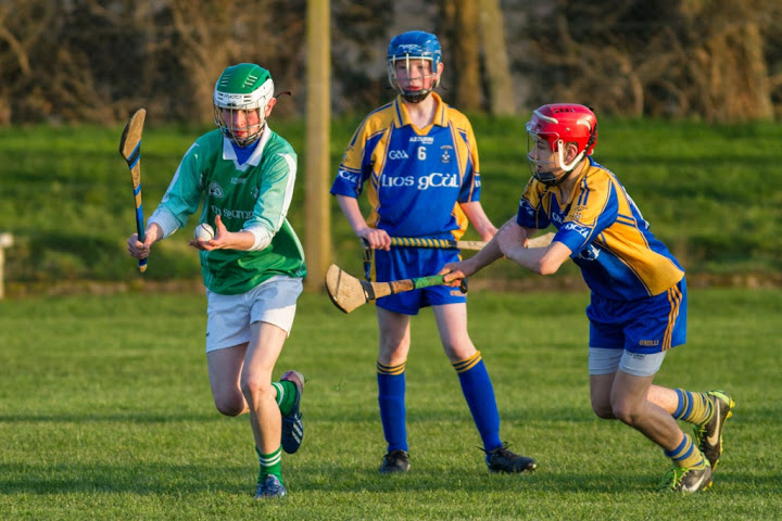 Daniel O'Mahony about to strike the sliotar V Lisgoold, 15/4/14