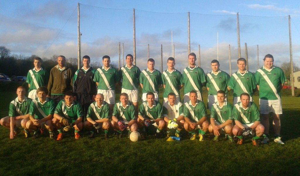 JAFL V Ballygarvan, 30/4/14. Back row, l to r: S. Kideny, S. Keane, D. O'Neill, B. Mulqueen, B. Sweeney, C. Kidney, M. O'Neill, S. Hurley, S. Collins, S. O'Reilly, S. Downey. Front, l to r: C. O'Grady, D. Scriven, J. Wilson, M. Prout, D. Hayes, J. Shanahan, F. O'Neill, S. Andrews, J. Browne, R. Murphy.