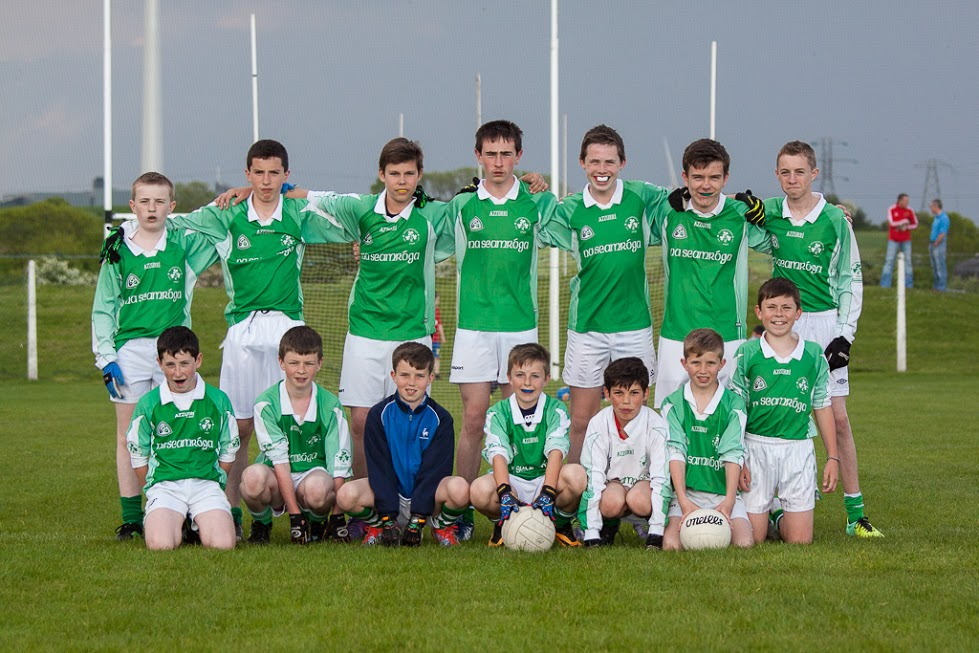 U14 Football Panel V Dripsey, 28/5/14. Back row, l to r: Cillian O Mahony, Cillian Hayes, Cathal Murphy, Daniel O'Mahony, Shane Downey, Evan Seymour, Jody Sisk. Front, l to r: Luke O'Drsicoll, Seán Browne, Harry Andrews, Dylan Gregson, Robert Van Pelt, Seán Andrews, Dylan O'Flaherty.