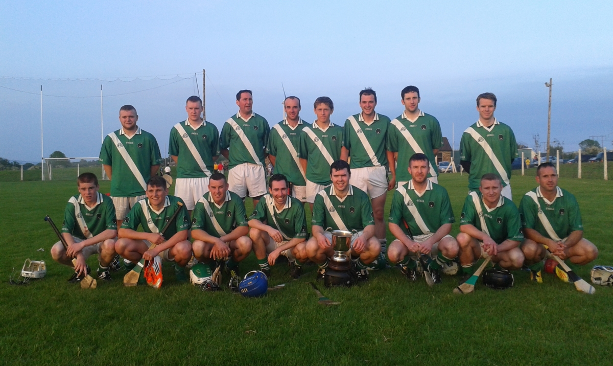 Shamrocks Panel with the Jack Barrett Cup,  30/5/14. Back, l to r: Darragh O'Sullivan, Cathal Kidney, Brian Sweeney, Stephen KEane, Darragh Scriven, Alan McCarthy, Barry Mulqueen, Stephen O'Reilly. Front, l to r: Seán Kidney, Jack Wilson, Fergus O'NEill, Joseph Shanahan, Seanán Collions (capt), Chris O'Neill, David Hayes, Senan Andrews. Goalie Michael O'Neill somewhere in the background!