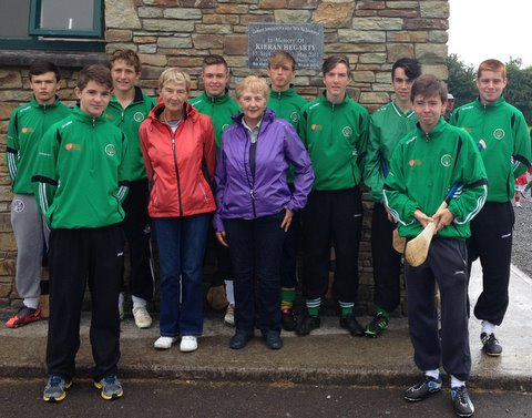 Some our our Minor and U16 Club Ciarán coaches pictured with Mary Hegarty, mother of the late Ciaran and her sister Jenny O'Donovan