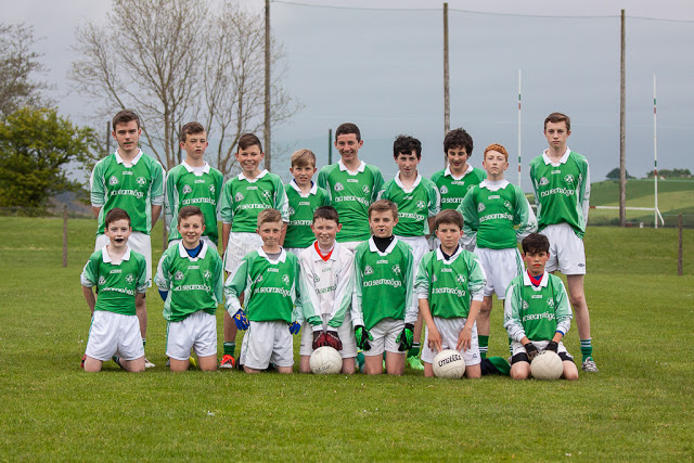 U14 FL V Tracton, 14/5/15: Back row, l to r: E. Seymour, A. Egan, D. O'Flaherty, S. Andrews, B. Hughes, L. O'Driscoll, S. Geary, C. Hourihan, J. Sisk. Front, l to r: R. Connolly, D. Gregson, A. Maye, C. O'Flaherty, M. Sisk, H. Andrews, R. Van Pelt.