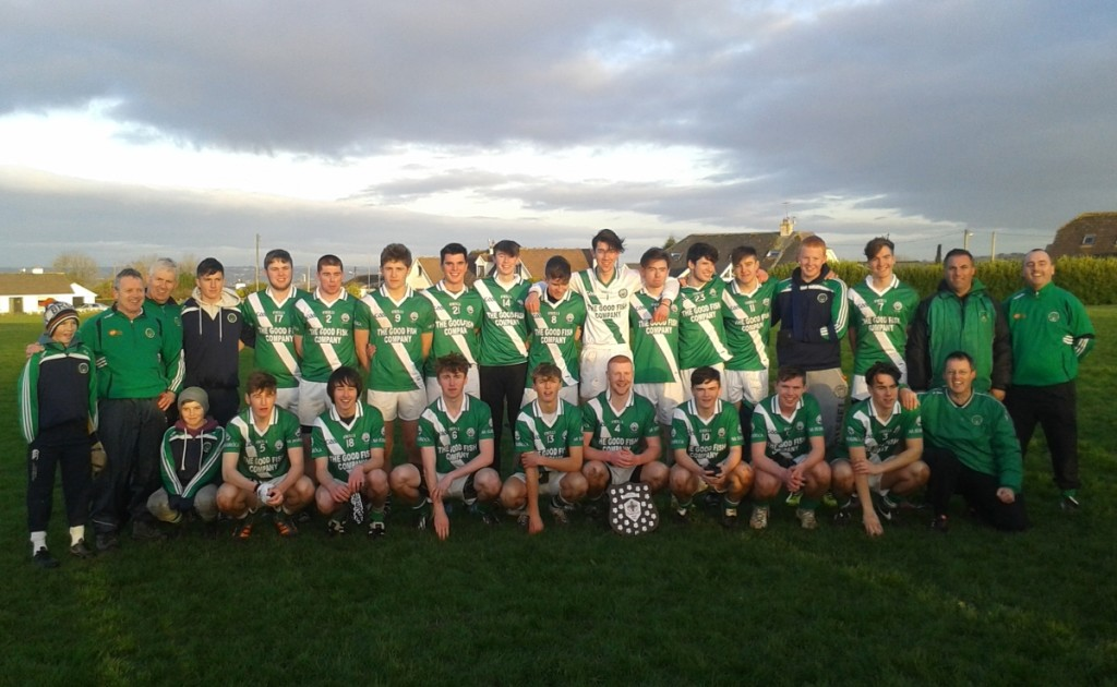 Back row, standing, left to right: Seán Andrews, Dick Andrews, Peter Crowley, Cillian Hayes, Killian Murphy, Seán Kidney, Darragh Scriven, James Lynam, Matthew Fleming, David Andrews, Shane Flavin, Brendan Crowley, Tom Murphy, David O'Sullivan, Criostóir Corkery, Mark Hitchmough, John Jordan, Dave Nolan. Front, l to r: Harry Andrews, Cormac Scriven, Daniel O'Mahony, David Barry, Andrew O'Grady, Coby O'Grady, Chris Hayes, Shane Downey, Shane Kelleher, Kevin O'Grady.