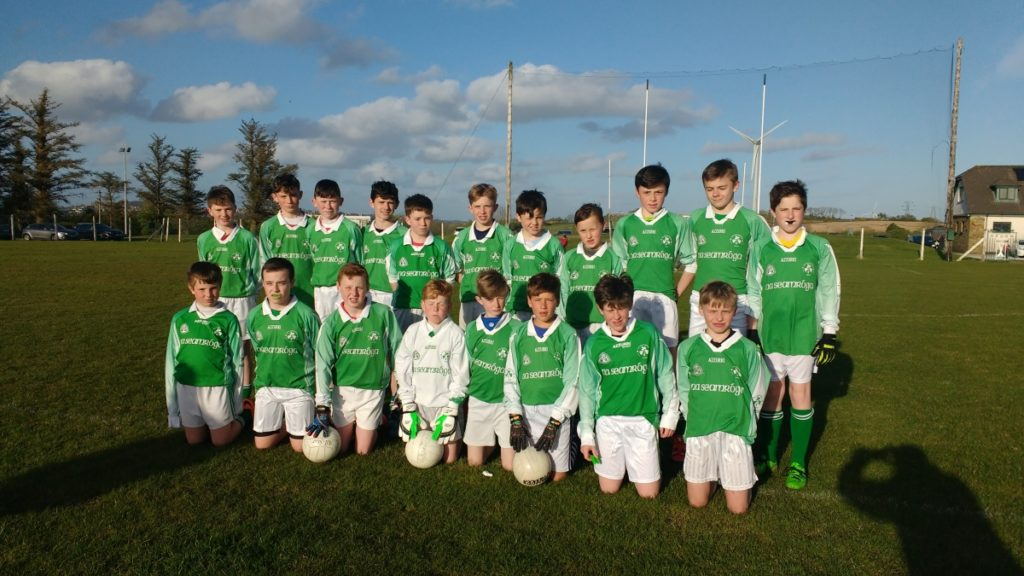 U14 FL V Fr O'Neills, 28/4/16. Back row, l to r: J. Coleman, S. Darcy, C. O'Flaherty, A. McSweeney, H. Andrews, S. Andrews, M. Foy, D. Carroll, P. Dorney, M. Sisk, N. O'Sullivan. Front row l to r: E. O'Flynn, J. O'Leary, F. Herlihy, D. O'Brien, A. MAye, T. Sheehan, A. Brady, D. Howard.