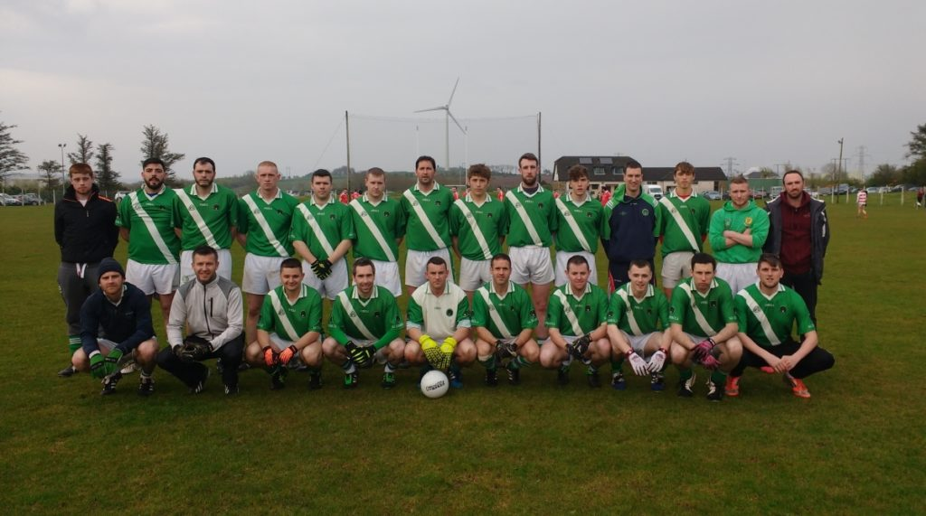 JAFL V Ballygarvan, 22/4/16. Back row, l to r: S. Kidney, M. Jordan, A. McCarthy, S. Cunningham, S. Collins, C. Kidney, B. Sweeney, D. Scriven, S. Hurley, M. Hitchmough, D. O'Neill, A. O'Grady, D. Hayes, R. Murphy. Front, l to r: R. Harrington, C. O'Neill, J. Browne, J. Shanahan, F. O'Neill, S. Andrews, J, Tuohy, R. Twomey, B. Mulqueen, J. Wilson.