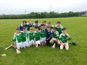 Winning Shanbally NS hurlers who took part in a Primary School Blitz held in Shamrocks GAA Grounds on Friday May 25th.