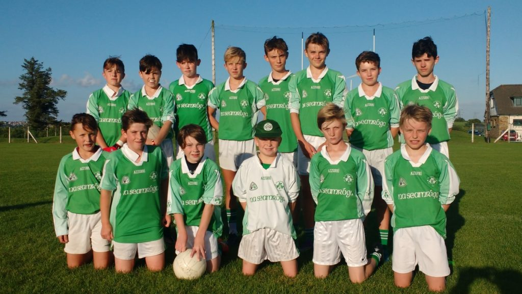 U14v FL V Aghada, 8/8/16. Back row, l to r: D. Gregson, M. foy, C. O'Flaherty, S. Andrews, S. Darcy, M. Sisk, H. Andrews, A. McSweeney. Front, l to r: D. Carroll, A. Brady, R. Barrett, D. O'Brien, A. Maye, D. Howard