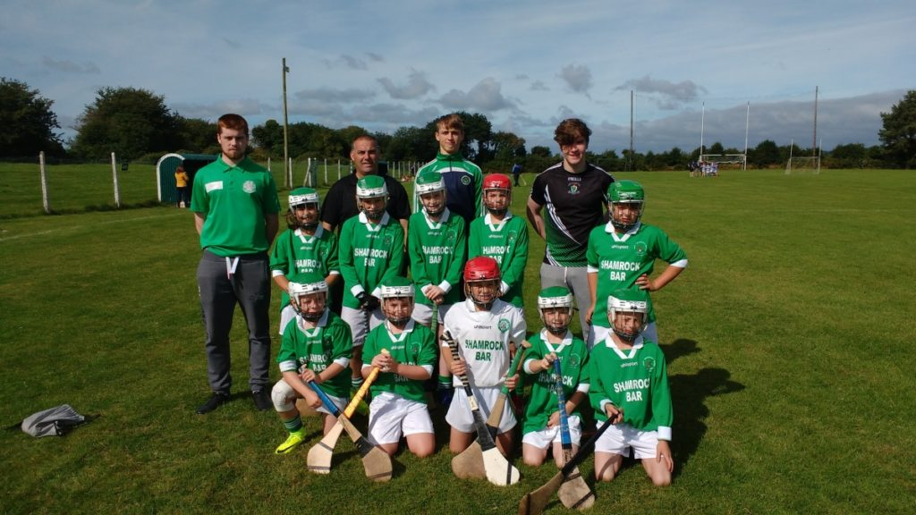 U10 HL V Kinsale, 13/8/16. Back row mentors, l to r: S. Kidney, J. Jordan, A. O'Grady, M. Hitchmough. Middle row: K. May, N. O'Sullivan, Z. Coughlan, D. Cahill, J. Bartlett. Front: C. Gregson, H. O'Leary, S. Foy, C. Lynch, D. McCormick.