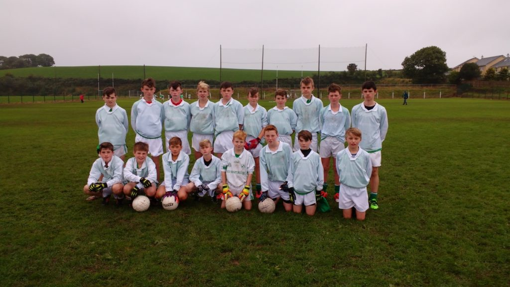 East U14 CFC Final V St Vincents, in Passage, 11/9/16. Back row, l to r: Michael Foy, Shane Darcy, Cian O'Flaherty, Seán Andrews, Philip Dorney, Dylan Gregson, Harry Andrews, Mark Sisk, John Coleman, Adam McSweeney. Front: Aiden Brady, Eoin O'Flynn, Tim Sheehan, Adam Maye, Daniel O'Brien, Fionn Herlihy, Robert Barrett, Derry Howard.