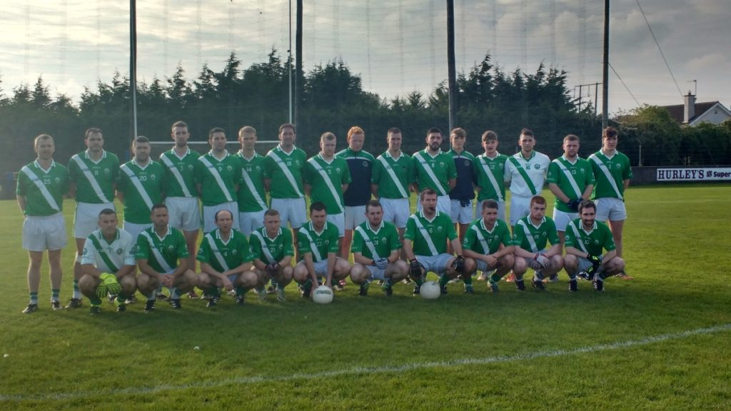 Co JAFC Semi Final V Cloyne in Carrigtwohill,. 8/10.16. Back row, l to r: R. Harrington, A. McCarthy, S. Collins, S. Hurley, B. Mulqueen, P'. Brady, B. Sweeney, C. Kidney, C. Corkery, D. O'Neill, M. Jordan, A. O'Grady, D. Andrews, J,. Wilson, D. O'Sullivan, M. Hitchmough. Front, l to r: F. O'Neill, S. Andrews, M. Prout, D. Hayes, S. O'Neill, J. Tuohy, C. O'Neill, C. Caffrey, S. Kidney, J. Shanahan.